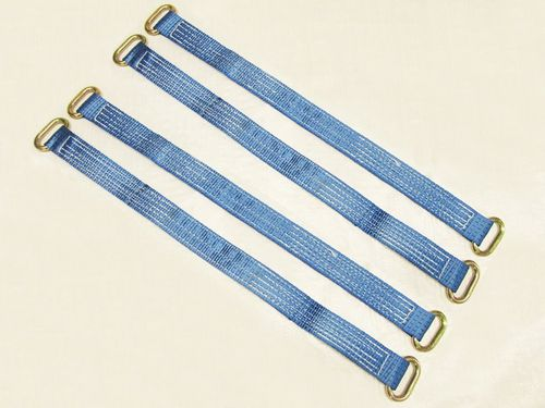 x4 30'' Wheel Strap With Oval Links - Blue Bridging Tractor Tie Down Recovery Trailer